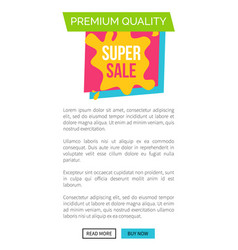 premium quality super sale web vector image