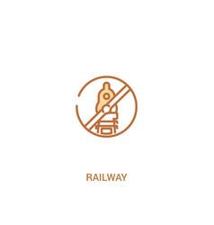 Railway concept 2 colored icon simple line vector