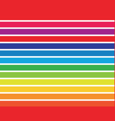 rainbow template vector image
