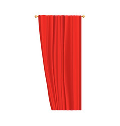 red velvet curtain for theater stage performance vector image