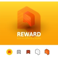 Reward icon in different style vector image