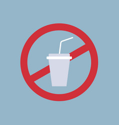 say no to plastic cup poster pollution recycling vector image