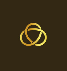 science technology symbol gold knot gold vector image