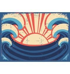 sea postergrunge sea landscape vector image