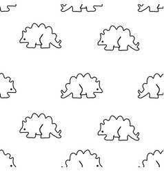 seamless pattern from stegosaurus vector image