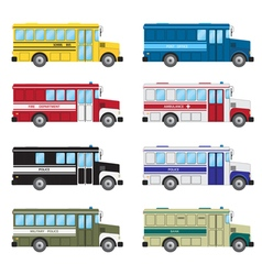 Set of buses vector image