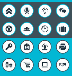 Set simple commerce icons vector