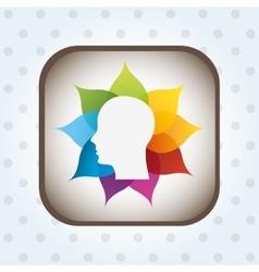 Social profile design vector