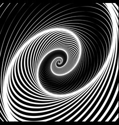 Spiral volute background - rotating radiating vector