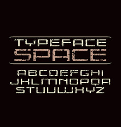 square sanserif font in computer style vector image
