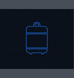 Travel luggage bag icon baggage symbol vector