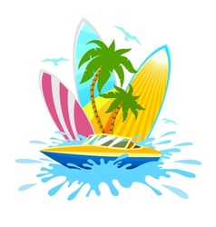 Travel tropical active rest vector image