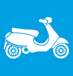 Vespa scooter icon white vector