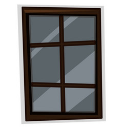 window with wooden frame vector image