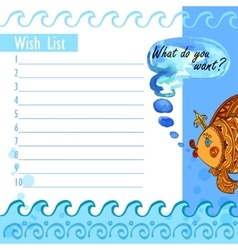Wishlist goldfish vector