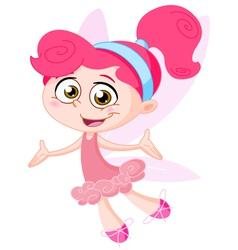 cheerful fairy vector image