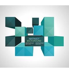 Colorful 3d Cubes background - Design Concept vector image