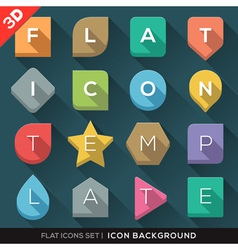 Geometric shapes background for flat icons set vector