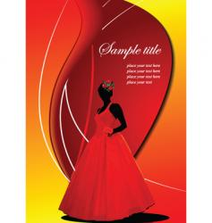 greeting card with bride image vector image