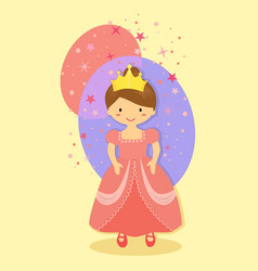 pink cute beautiful princess vector image