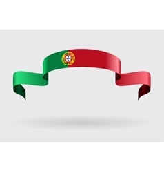Portuguese flag background vector image vector image