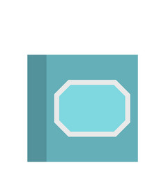 white plastic paper clips in container icon vector image