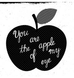 apple of my eye vector image vector image