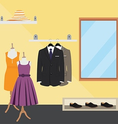 Clothes store vector image vector image