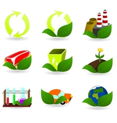Collection of ecology icons vector image