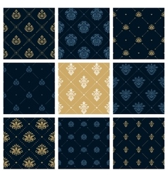 Royal patterns or victorian christmas background vector image vector image