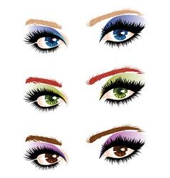 Eye make up vector image