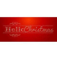 Hello christmas stars signal vector