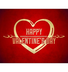 Vintage Valentines Day Flyer Design vector image
