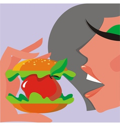 apple sandwich vector image