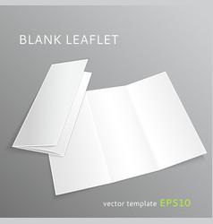 Blank leaflet vector image vector image