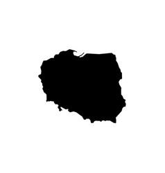 map - poland vector image