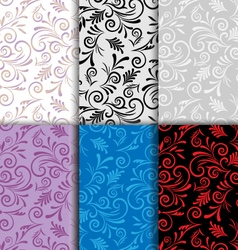 Set of seamless patterns curls vector image vector image