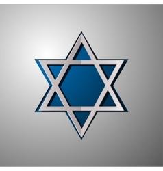 Star of David Israel Star of David cut vector image vector image