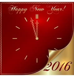 2016 new year gold and red vector
