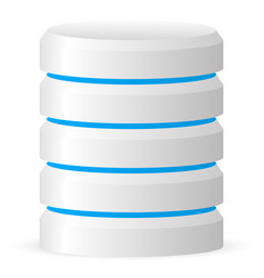 3d cylinder datacenter webhosting hard disk icon vector