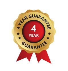 4 year guarantee badge guarantee certificate vector
