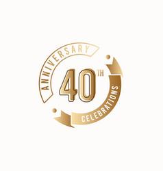40 th anniversary celebration logo template design vector