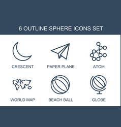6 sphere icons vector