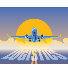 air freight logistics vector image