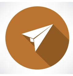 airplane paper sign vector image