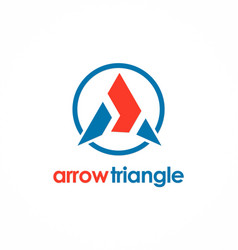 arrow triangle logo vector image