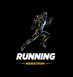art concept a running woman vector image