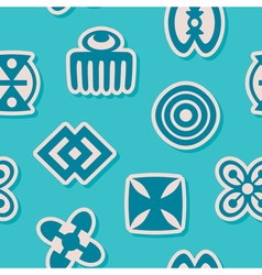 Aseamless background with adinkra symbols vector