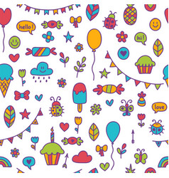 background for cute little boys and girls hand vector image