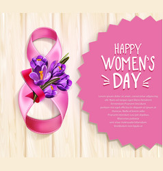 Background to 8th march womens day vector
